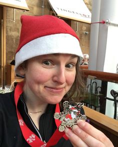 Ho Ho Ho! 5k Santa Dash done. It was pretty easy apart from trying not to trip over small children and dogs in Santa costumes. Scrap that - the hardest bit was not stopping to cuddle all the dogs. #unflatteringselfie #glasgow #santadash #elfie #medal #running #thisgirlcan #5k