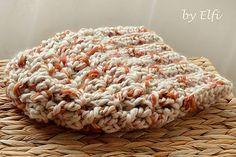 Elfi / ♦ Háčkovaná čiapka z hrubšej vlny ♦ Krispie Treats, Rice Krispies, Crochet, Desserts, Food, Tailgate Desserts, Dessert, Knit Crochet, Postres