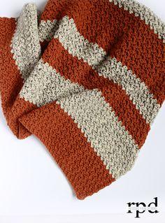Pumpkin Tweed Blanket - Free Crochet Pattern - Rescued Paw Designs ༺✿ƬⱤღ http://www.pinterest.com/teretegui/✿༻