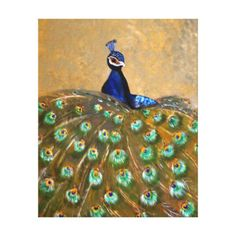 Shop peacock canvas print created by BabettsBildergalerie. Peacock Canvas, Kunst Poster, Cherished Memories, Vacation Pictures, Beautiful Moments, Wrapped Canvas, Outdoor Blanket, Weaving, Canvas Prints