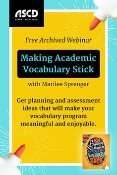 In this webinar, Marilee Sprenger, author of 101 Strategies to Make Academic Vocabulary Stick, shares planning and assessment ideas and suggests strategies that will make your vocabulary program meaningful and enjoyable for you and your students. Vocabulary Strategies, Academic Vocabulary, Vocabulary Games, Root Words, Spelling Activities, Instructional Coaching, Spelling Words, Word Study, Teaching Spanish
