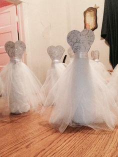 Diy Vase Wedding Dress Center Piece You May Now Kiss The Bride Wedding Centerpieces Wedding