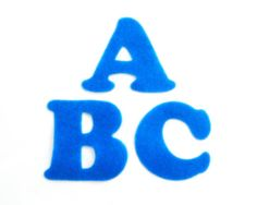 Blue Felt Alphabet Letters  Fabric Applique by NewEnglandQuilter, $7.50