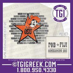 TGI Greek - Gamma Phi Beta - Phi Gamma Delta - Homecoming Shirts - Comfort Colors - Greek T-shirts - Game Day #tgigreek #gammphibeta #fiji #homecoming