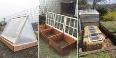 Cold frames are great garden accessories that can help you continue gardening even in harsh weather conditions like rain and snow.