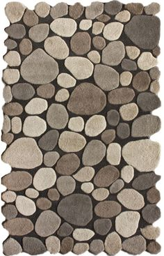 Rugs USA Serendipity Contemporary Handmade Wool Pebbles Cobblestone Natural Rug    bathroom