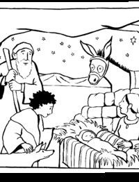 Kerst kleurplaat - from prentenbijbel Flannel Boards, Birth Of Jesus, New Testament, Advent, Coloring Pages, Doodles, Bible, Christian, Crafts