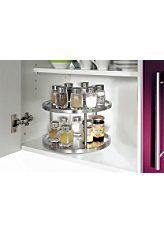 Küchenkarussel »Structura« * * * * * (3) Küchenkarussel »Structura« Drehteller für viele Verwendungszwecke Ideal als Gewürzregal Edelstahl I...