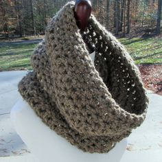 Crochet Cowl Handmade Cowl Crochet Scarf Infinity by TheComfyBaby