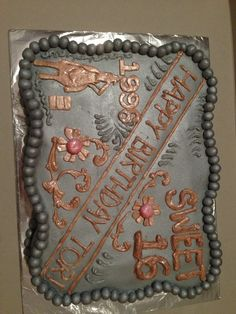 Barrel Racer Buckle cake