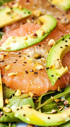 Grapefruit & Avocado Salad with Pistachios