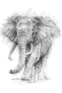 Shading Drawing, Pencil Sketch Drawing, Ink Pen Drawings, Art Drawings Sketches, Pencil Drawings Of Animals, Animal Sketches, Smoke Painting, Stippling Art, Scribble Art