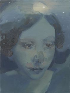 KAYE DONACHIE  Black and enduring separation  oil on canvas  41 x 30 cm  2012 via Maureen Paley Gallery