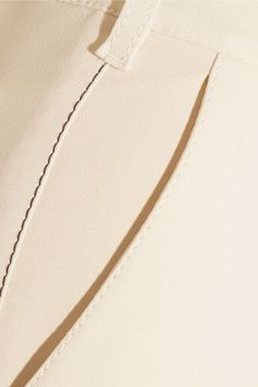 Sonia Rykiel - Cropped Stretch-cady Wide-leg Pants - Ivory - FR42