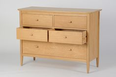 Ercol Teramo - 5 drawer wide chest. Scandi style chest of drawers
