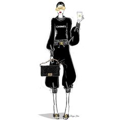 Coffee and Chanel Fashion Sketches, Art Sketches, Fashion Illustrations, Megan Hess Illustration, Kerrie Hess, Zoom Call, Black Artwork, International Fashion, Book Art