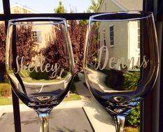 Items similar to Personalized etched wine glasses-Couples wine glasses-Wedding gift-Etched stemmed wine glasses-Bridal Shower gift -Bridal party gift on Etsy Monogram Wine Glasses, Etched Wine Glasses, Personalized Wine Glasses, Personalized Bridesmaid Gifts, Bridesmaid Wine Glasses, Wedding Wine Glasses, Bride And Groom Glasses, Going Away Gifts, Wedding Gifts For Bridesmaids