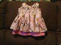 Pink camo dress back by Deb