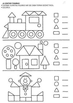 Preschool Shapes Worksheets for January. Kindergarten Activities, Educational Activities, Learning Activities, Preschool Activities, Kids Learning, Preschool Shapes, Shapes Worksheets, Kids Math Worksheets, Teaching Shapes