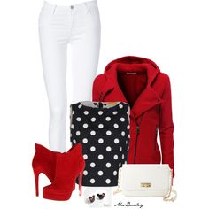 white pants with boots, created by mrsdanley on Polyvore