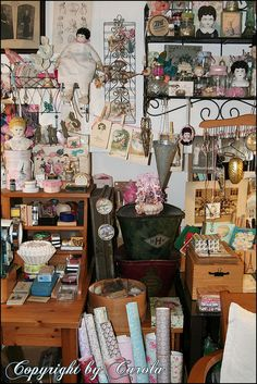 Between two work desks by Boxwoodcottage, via Flickr