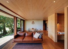 """A home by Troppo Architects in northern New South Wales that is """"always forest, always beach, always lighthouse."""""""
