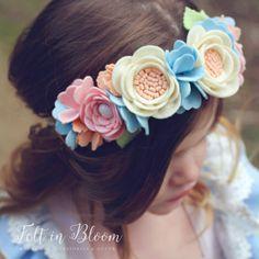 LUXE Felt Flower Crown Serenity  Felt Floral от shopfeltinbloom