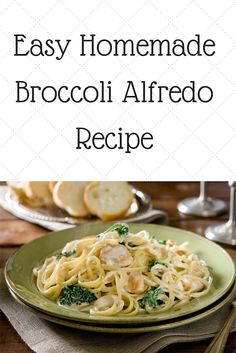 Easy Homemade Broccoli Alfredo Sauce Recipe I am so in love with this Alfredo recipe. It's a quick meal idea when you are in a hurry. Can be made with or without chicken. Either way, it's yummy!