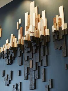 10 wunderbare DIY moderne Wandkunst-Design-Ideen - Architektur und Kunst - The World Wooden Wall Art, Wooden Walls, Diy Wall Art, Diy Wall Decor, Diy Home Decor, Diy Art, Room Decor, Wood Artwork, Scrap Wood Art