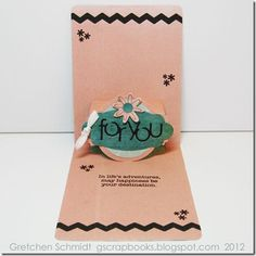 Design team member @Gretchen Schmidt shares a great card tutorial on her blog featuring @Karen Burniston's Pop 'n Cuts dies.