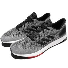 adidas PureBOOST DPR Grey Black Red Men Running Shoes Sneakers Trainers  S80993