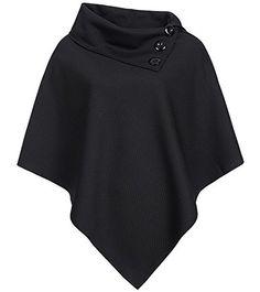 Madonna Damen Poncho 'Antje' 2 Farben, Größe:one size;Farbe:black
