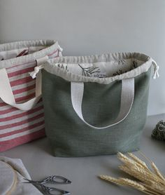 This project bag will be perfect for knitters, crocheters, weavers - all creatives who need a bag to store their projects and tools.  Made from high quality linen and cotton. Linen Bag, Fern, Textile Design, Diaper Bag, Gym Bag, Pouch, Textiles, Tools, Store