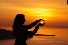 I've got the power  #santorini #sunset