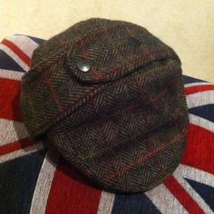 COUNTRY-TWEED-DEER-STALKER-VINTAGE-WOOL-FLAT-CAP-DUNN-55-SMALL-6-3-4-MENS-WOMENS
