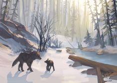 Life Is Strange 3, Snow Forest, Forest Illustration, Doodle Drawings, Manga, Fantasy Art, Scenery, Digital Art, Marvel