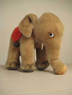 In my ETSY Shop: Large #Steiff Elephant - Over 6 Inches Tall - Wonderful Condition!