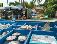 The funky shops at Robbie's Marina in Islamorada, Florida