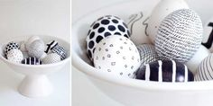 Décorez vos œufs de Pâques de motifs graphiques avec un marqueur permanent type POSCA