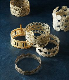 Lace cuffs from The Jewellery Recipe Book by Nancy Soriano