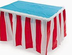 Red & White Striped Table Skirt Cover CIRCUS BIG TOP CARNIVAL BIRTHDAY Party | Home & Garden, Greeting Cards & Party Supply, Party Supplies | eBay!