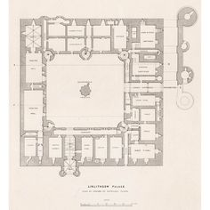 Linlithgow Palace Ground Floor Plan - Britton Images