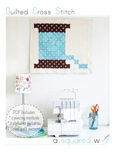 Quilted Cross Stitch PDF Instant Download from a.squared.w