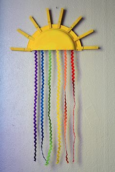 Sun and rainbow art project