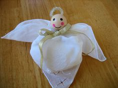 Making a Hankie Angel Out Of Lace Handkerchiefs DIY Tutorial