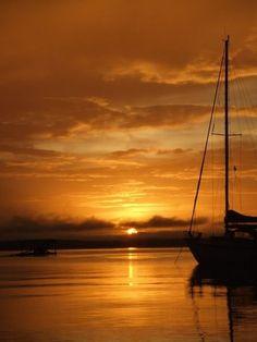 Sunrise on the Essequibo river