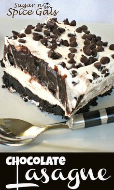 I was Looking for a Lasagna Recipe on Pinterest and came across this...mmmmm...: Chocolate Lasagna....Looks like a MUST TRY ....Especially PMS week !! LOL