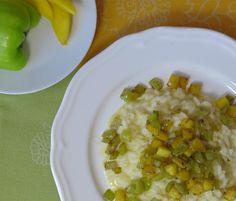 avevo proprio voglia di un bel risotto goloso sì, ma più leggero Magari con la frutta? Sì, con mango ho pensato! Indeciso tra cucina giamaicana e orientale,