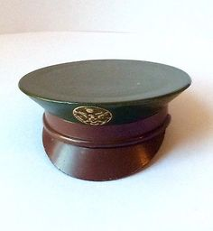 Vintage WW II Women's Compact-Military Army Hat-Sweetheart