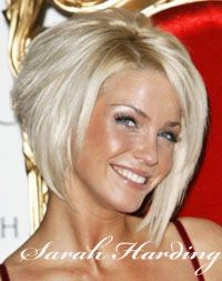 ... et blond platine pour sarah harding cute short bob hair cuts short